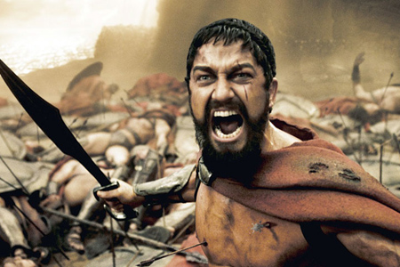 Leonidas had that warrior spirit.